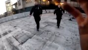 Parkour Runner Encounters NYPD Cops, Pulls Off Insane Jump Off Roof To Escape Them!