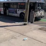 Determined: Dude Was Trying Desperately To Get That ATM Machine On The Bus!