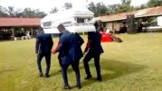 Disrespectful: Pallbearers Drop A Coffin While Dancing During A Funeral!