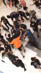 Sheesh: Alleged Undercover Cop Gets Kicked From An Escalator & Jumped During Hong Kong Protests!