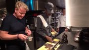 Gordon Ramsay Teaches Lil Nas X How To Make A Panini!