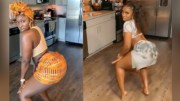 She's Sexy: African Chick Showing Off Her Dancing Skills!