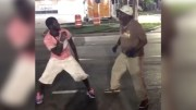 Two Drunks Fight, One Pulls Out An Unexpected Move!