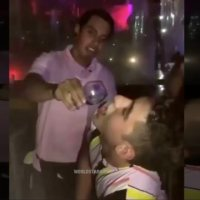 Lol: Dude Tried To Play It Off After Almost Getting Lit On Fire With A Liquor Shot!
