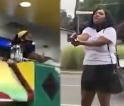 Chick Pulls Gun On Employees At A Jamaican Restaurant After They Wouldn't Give Her A Refund!
