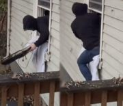 Robbery Gone Wrong: Burglar Tries To Take Off With Two TV's But Things Didn't Go As Planned!