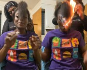 Tap Tap Then Poof: Girl Set Her Hair On Fire While Trying To Light A Blunt!