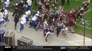 Got Ugly: All Out Brawl Ensued At The End Of The Tulsa Vs Mississippi State Game!