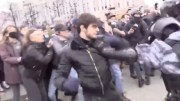 Wild: Dude Fights Russian Police During Protest!
