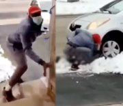 Bruh: Guy Tries To Steal A Package & Gets His Getaway Car Gets Stuck In The Snow; Arrested!