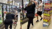 Anti-Masker Tries To Ram Man With A Shopping Cart For Allegedly Hitting Her!