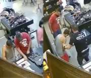 Just Wild: Man Dealing With Jammed Gun Shoots Customer Inside A Gun Shop!