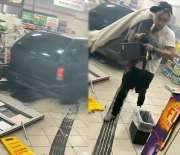 [:en]Straight Wildn': Dude Ran His Whip Into A 7-Eleven Corner Store And Walked Away Like Nothing Happened![:]