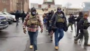 Armed Protesters Begin To Gather At The Michigan State Capitol!