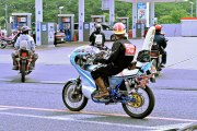 Damn: Woman Crossing The Street Gets Clipped By A Motorcyclist!
