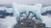Ship in Storm | WARSHIP Hit By Monster Wave Near Antarctica [4K]