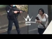 Damn: French Police Officer Sneaks Up & Takes Down Woman Armed With A Double-Barrel Shotgun!
