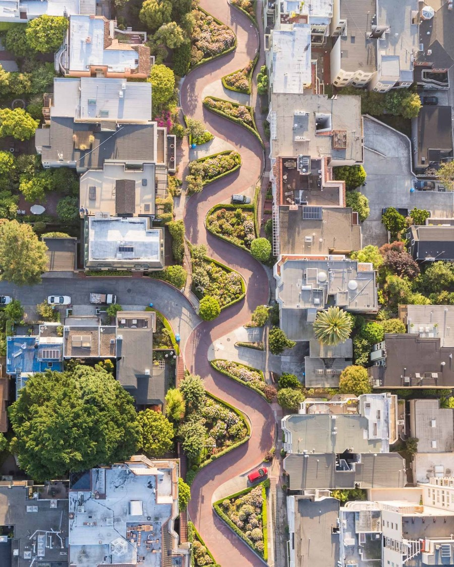 Lombard Street Aerial