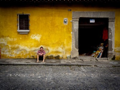 Travel Photo: Guatemala - Victor in a Street of Antigua