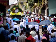 Travel Photo: Honduras - Sunday Religious Procession in Copan Ruinas