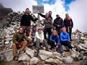 Salkantay Trek - Our Hikers at the Salkantay Pass