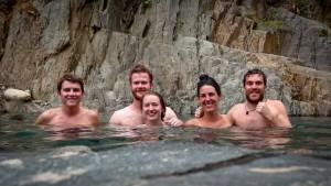 Salkantay Trek - Our Hikers at Santa Teresa's Hotsprings