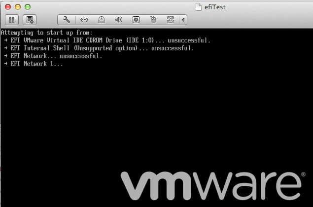 Boot via EFI firmware - PlanetVM