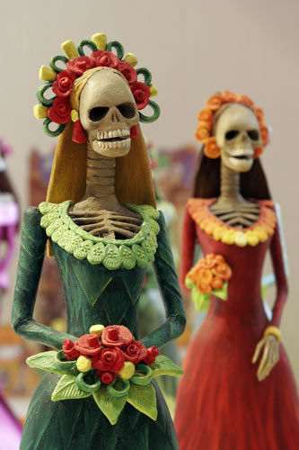 Catrinas, one of the most popular figures of the Day of the Dead celebrations in Mexico