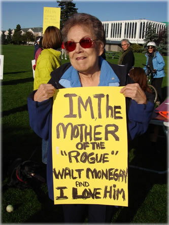 Photo of Walt Monegan's mother, courtesy of Mudflats.