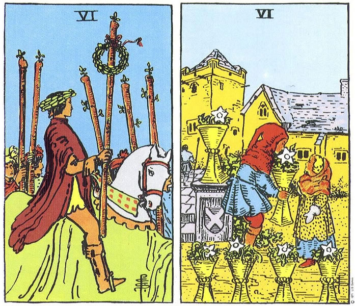 Moving Into The Flow The Sixes In Tarot Astrology And Horoscopes By Eric Francis The pentacles tarot card meanings. moving into the flow the sixes in