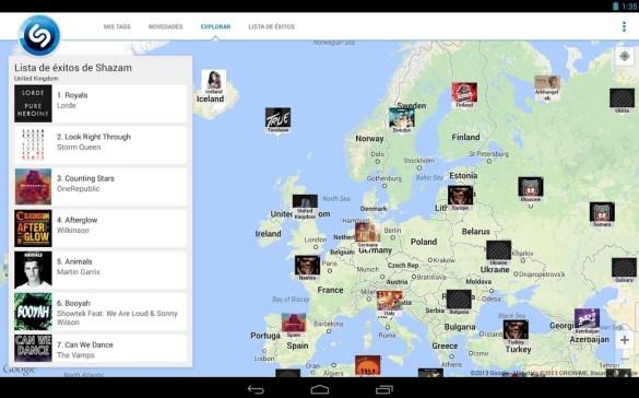 Shazam Map