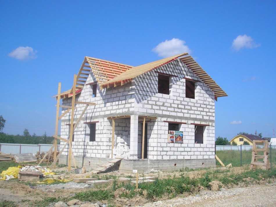 Фотоотчет стройка дома из газоблока