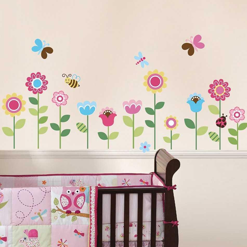 Картинки цветы в детскую комнату