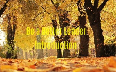 Be a Better Leader – Introduction