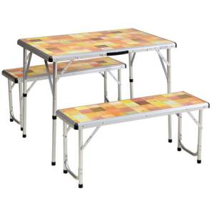 Coleman Mosaic Packaway Picnic Table Set