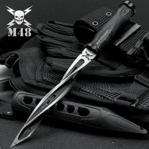 13.5 Inch M48 Cyclone Spiraling Knife with Sheath