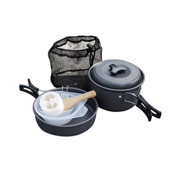 9 Piece Lightweight Aluminium Camping Cookware