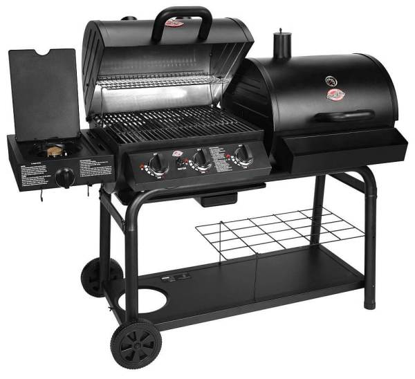 Char-Griller 5050 Gas and Charcoal Duo Grill
