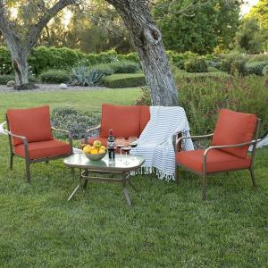Cushioned 4 Piece Patio Furniture Set