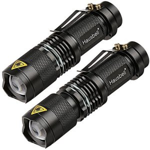 Hausbell 2 Pack 7W Ultra Bright Mini LED Flashlights