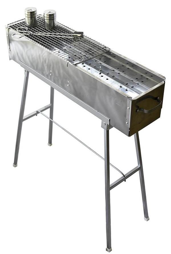 Party Griller 32 Inch Stainless Steel Charcoal Grill