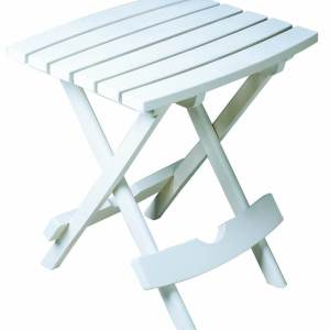 Plastic Quik-Fold White Side Table