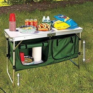 Portable Adjustable Camping Kitchen Table