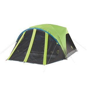 Coleman Carlsbad 4 Person Dark Room Dome Tent with Screen Room