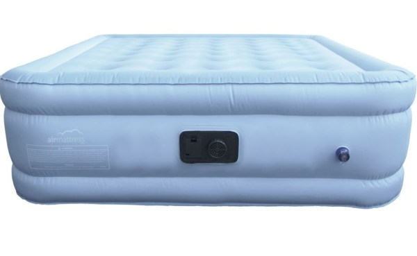 King Size Air Mattress with Fitted Sheet and Bedskirt