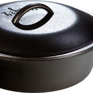 Lodge Camping 3 Qt Cast Iron Chicken Fryer with Cover