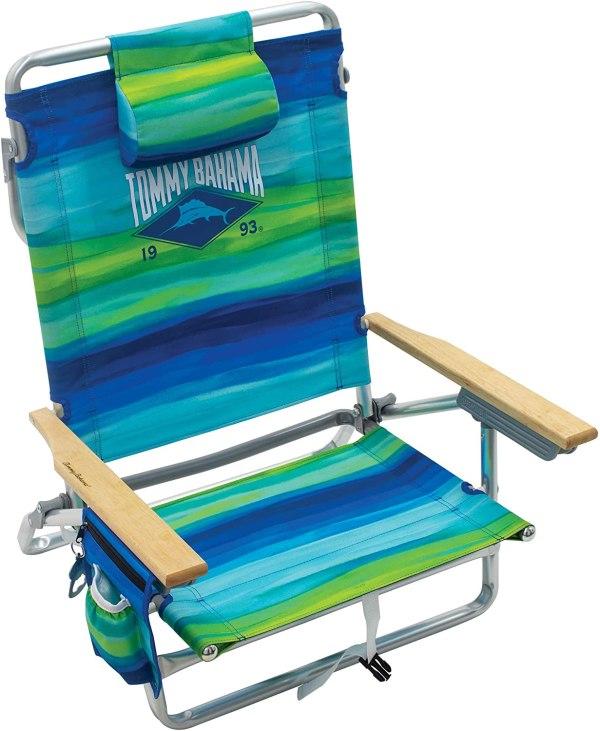 Tommy Bahama Classic Lay Flat Folding Backpack Beach Chair