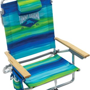 Tommy Bahama Classic Lay Flat Folding Backpack Beach Chair