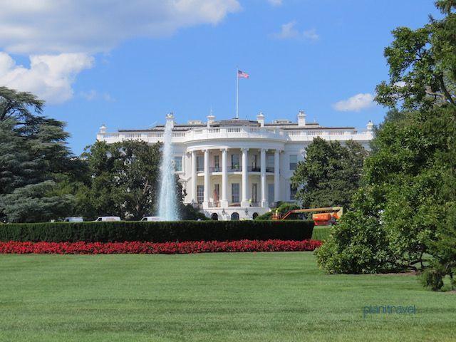 Fachada trasera de la Casa Blanca