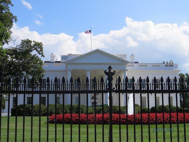 Fachada delantera de la Casa Blanca